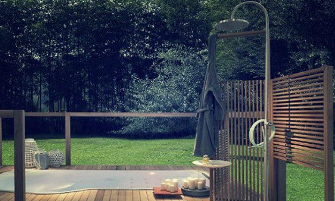 ducha solar de exterior